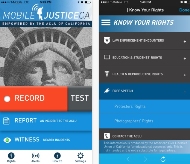 California ACLU Group Launches App to Record Possible Police Misconduct
