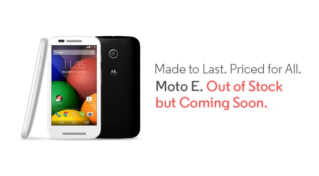 Moto E Goes Out of Stock on Flipkart Within 48 Hours