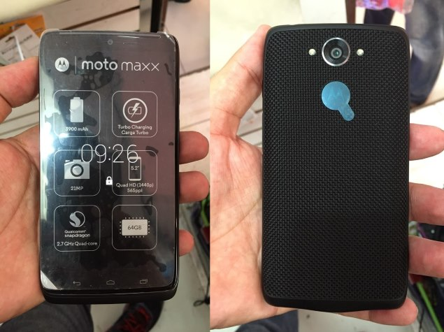 Motorola Moto Maxx Leaked in Pictures Ahead of Expected Wednesday Launch