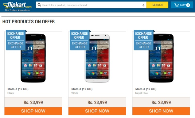 Moto X Now Available on Flipkart at Rs. 19,999 Under New Exchange Offer
