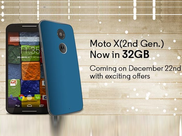 Moto X (Gen 2) 32GB to Go on Sale in India on Monday