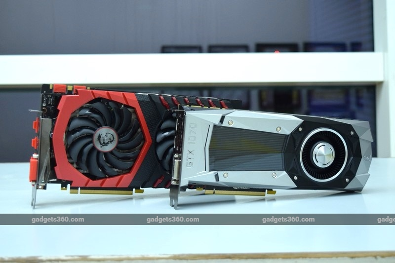 MSI GeForce GTX 1070 Gaming X and Nvidia GeForce GTX 1070 Founders