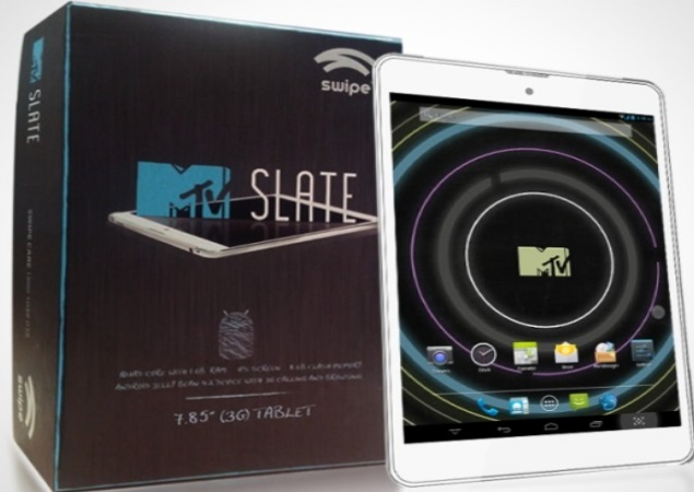 Swipe MTV Slate tablet with Android 4.2, voice-calling launched for Rs. 14,999