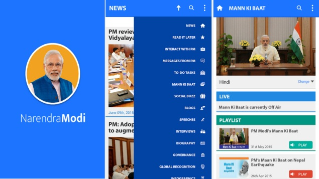 Prime Minister Launches 'Narendra Modi' App for Android