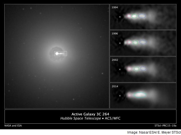 Astronomers Spot Collision Inside Black Hole Jet