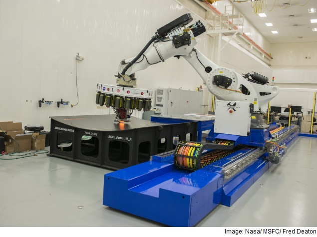 Nasa Robot Building Biggest Rocket Parts for Mars Mission