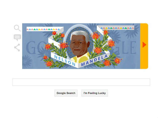 Nelson Mandela's 96th Birth Anniversary Marked by a Google Doodle