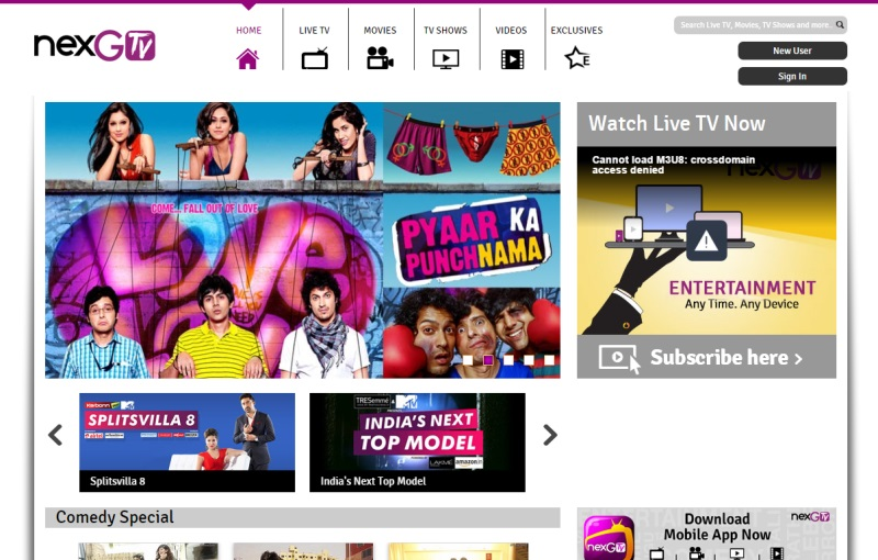 nexGTv Launches New Mobile TV Entertainment Packs