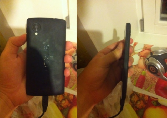 Nexus 5 pictured in new leaked images, revealing rear and side panels