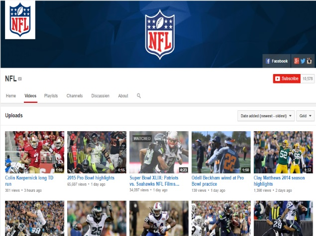 c941efcbf0c NFL Partners YouTube to Offer Highlights