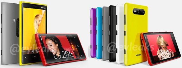 Nokia Lumia 920 with PureView and Lumia 820 show up online