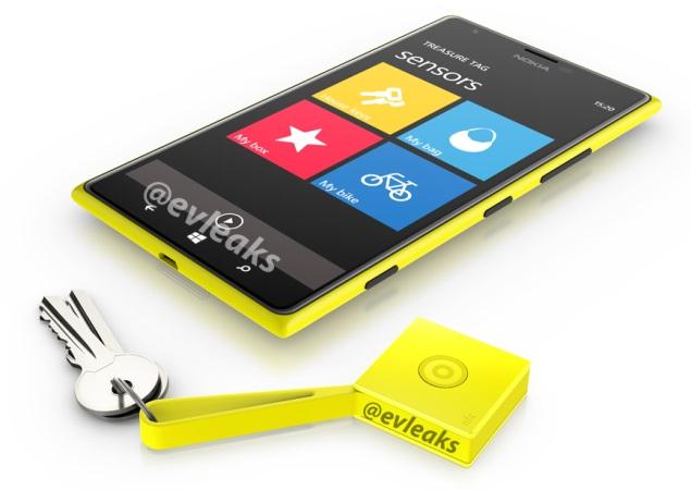 Nokia Lumia 1520 leaks again, pictured alongside Treasure Tag accessory