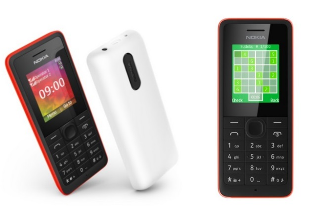 Nokia 106 and Nokia 107 feature phones unveiled