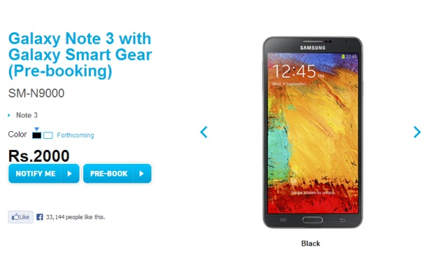 Samsung Galaxy Note 3 and Galaxy Gear smartwatch up for ...