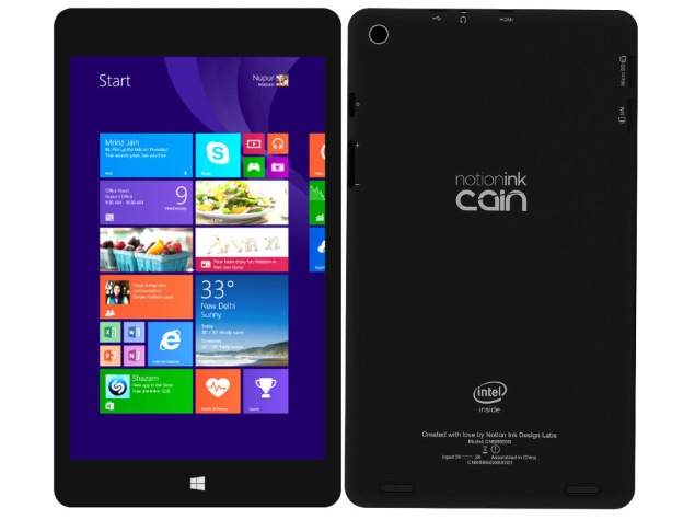 Notion Ink Cain 8 Tablet With Windows 8.1 Set to Launch This Week