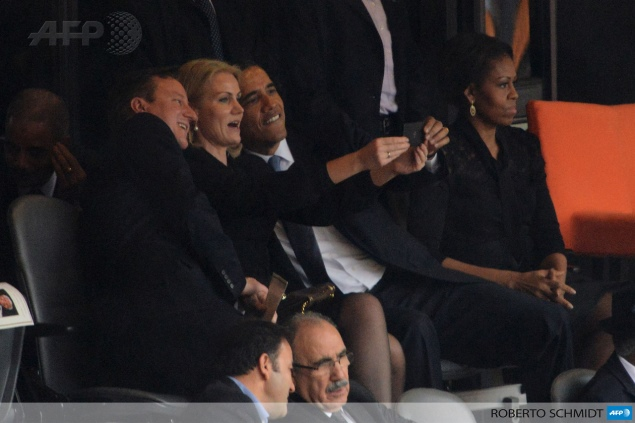 Obama, Cameron 'selfie' at Mandela memorial creates online stir
