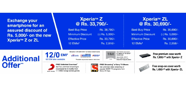 Sony introduces exchange offer for Xperia Z and Xperia ZL, Xperia Z Ultra spotted online