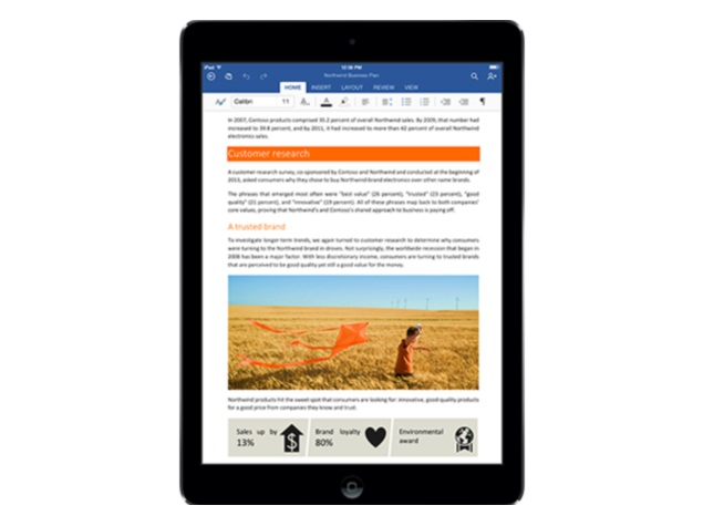 Microsoft Office for iPad review