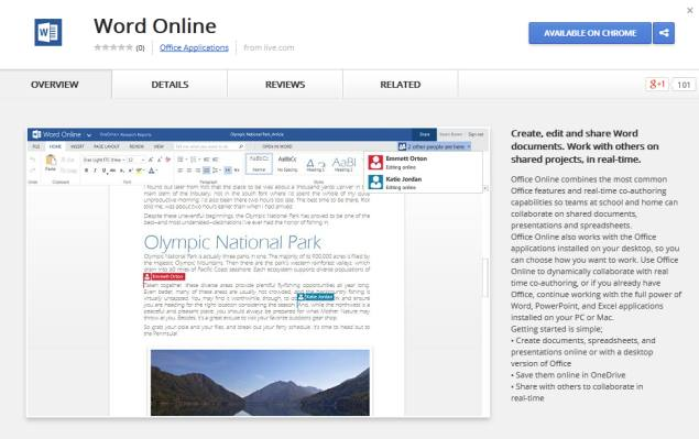 microsoft updates office online apps brings them to chrome web store technology news. Black Bedroom Furniture Sets. Home Design Ideas