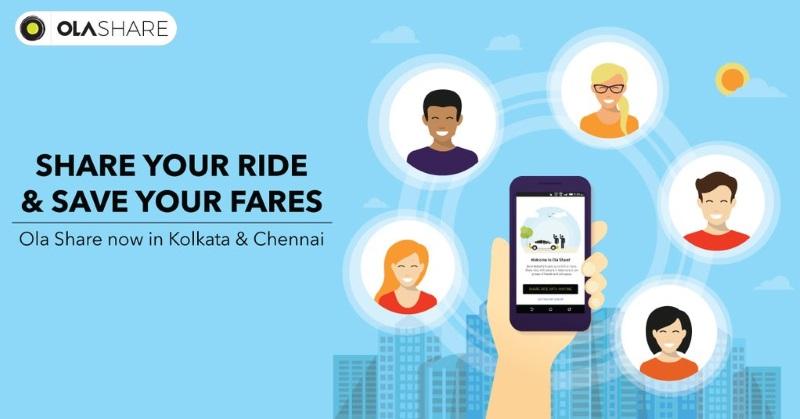 Ola Launches Ride Sharing Service in Kolkata