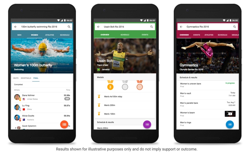 Rio 2016 Olympics: Google to Showcase Events, Results, and More in Search
