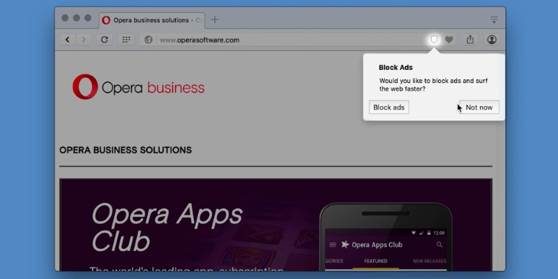 Opera Becomes First Major Browser Maker to Integrate Built-In Ad-Blocker