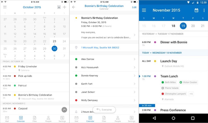 microsoft outlook app revamped to get sunrise calendar features
