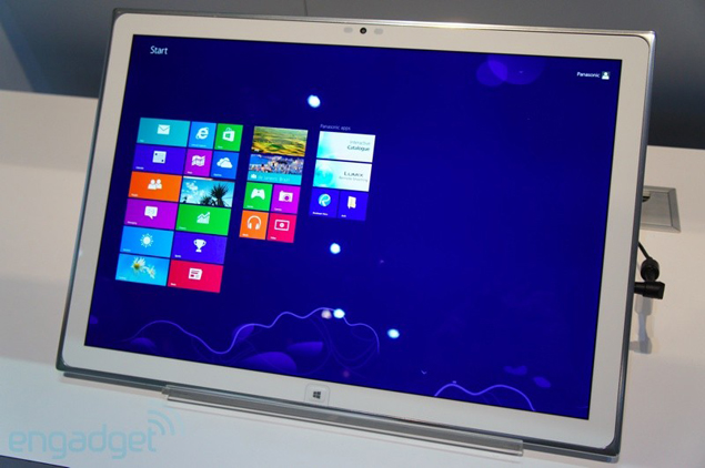 Panasonic shows off a 20-inch 4K Windows 8 tablet at CES