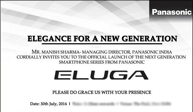 Panasonic India to Launch Eluga Series of Smartphones on Wednesday