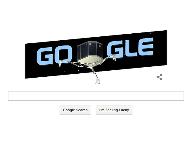 Philae Lander Touchdown on Comet Nucleus Marked by Google Doodle