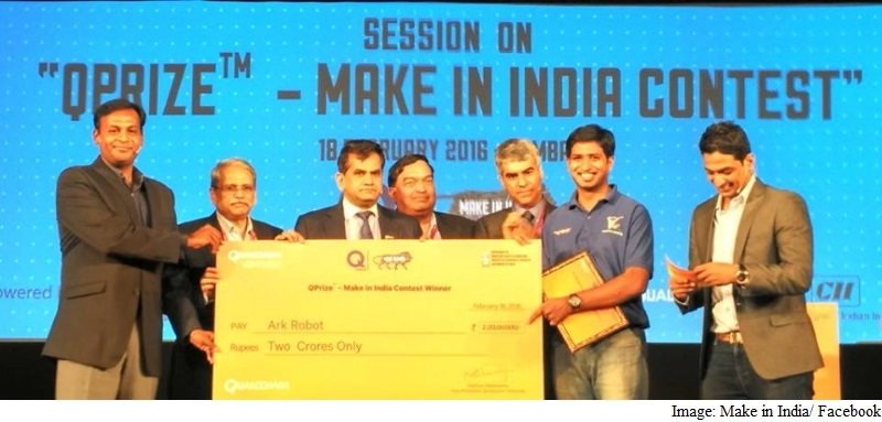 Bengaluru-Based Ark Robot Bags Rs. 2 Crores in QPrize 'Make in India' Contest