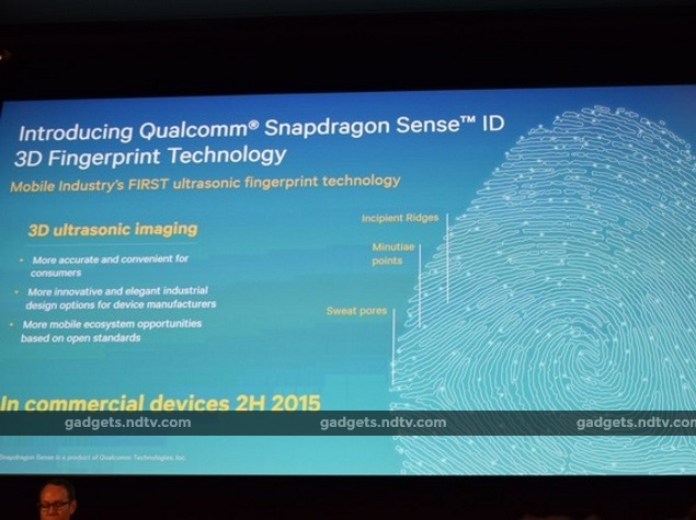 Qualcomm Snapdragon Sense ID 3D Fingerprint Technology Unveiled at MWC 2015
