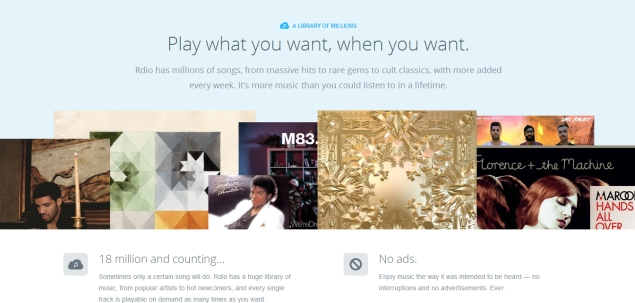 Rdio looks beyond music, launches Vdio for TV, movies