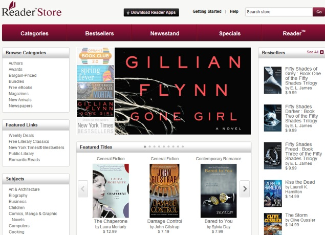 Sony launches web-based Reader Store, updates Android app