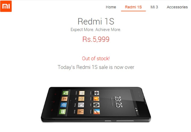 Xiaomi Says 40,000 Redmi 1S Phones Go Out of Stock in 4.5 Seconds