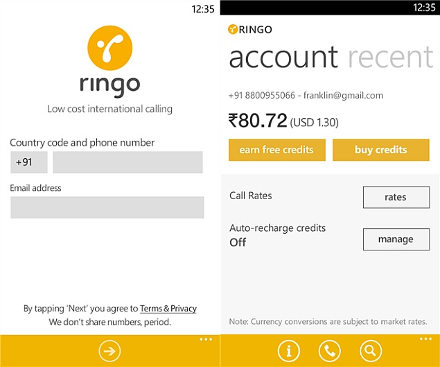 Ringo 'Internet-Free International Calling App' Launched in