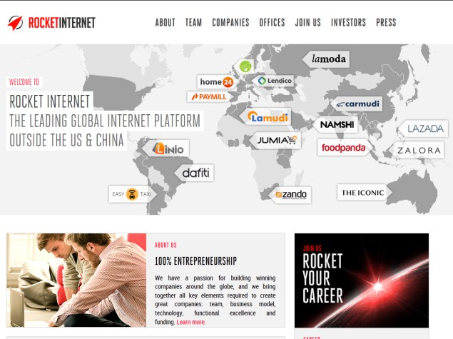Rocket Internet Bets Big on New Online Markets