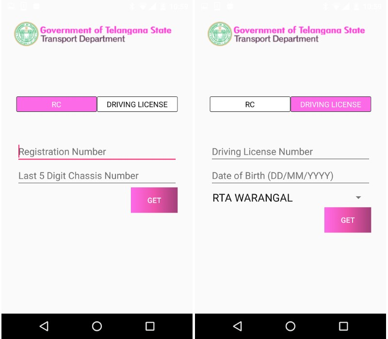 New App Stores Driving Licence, Other Vehicle-Related Documents