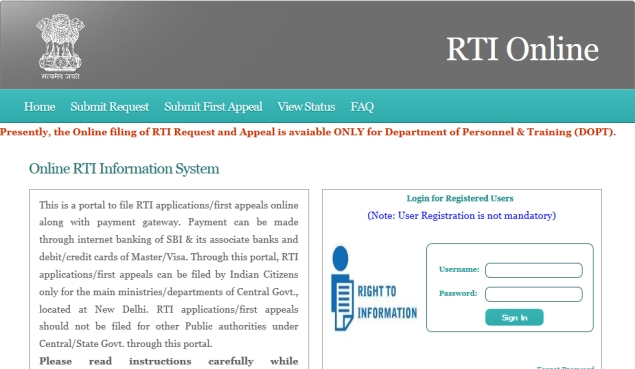 Finally, file RTI applications and pay fees online