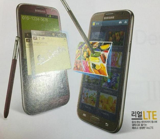 Samsung Galaxy Note II spotted in Red and Brown colour variants