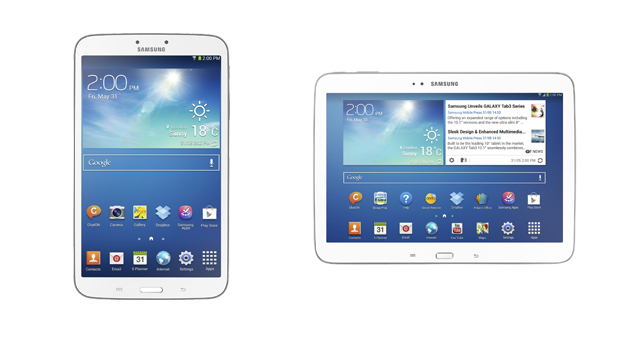Samsung Galaxy Tab 3 8-inch and 10.1-inch versions ...