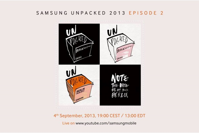 Samsung confirms Galaxy Note III launch event for September 4