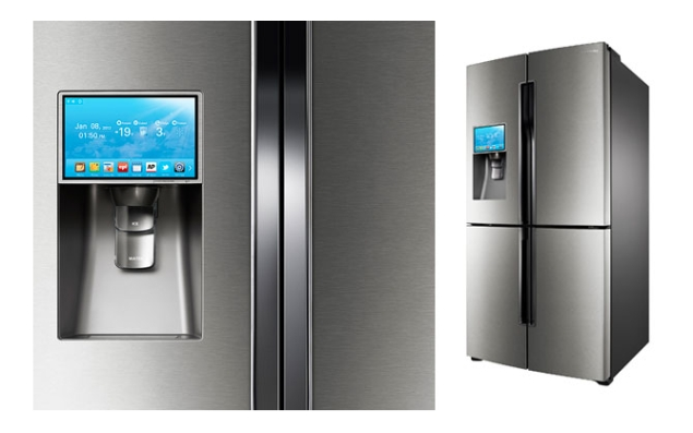 samsung 39 s t9000 smart refrigerator runs on android includes apps like evernote and epicurious. Black Bedroom Furniture Sets. Home Design Ideas