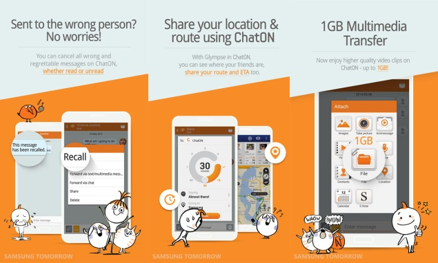 Samsung ChatON updated with message recall feature and more