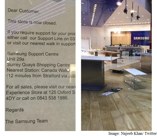 Samsung Shuts Down Its Flagship Experience Store in London
