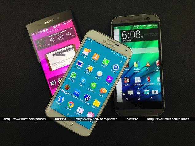 Sony Xperia Z2 vs. HTC One (M8) vs. Samsung Galaxy S5