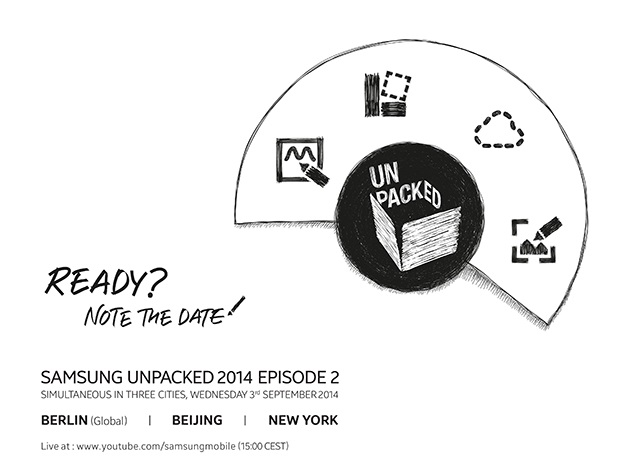 Samsung Set to Launch Galaxy Note 4 at September 3 Event