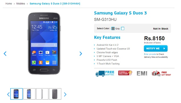 Samsung Galaxy S Duos 3 Listed on Company Site; Galaxy ...