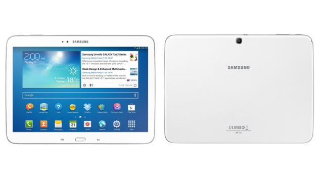 Samsung Galaxy Tab 3 10.1 tablet listed on company's online store at Rs. 36,340