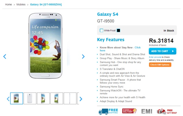 Samsung Galaxy S4 and Galaxy S4 Mini Receive Price Cuts in